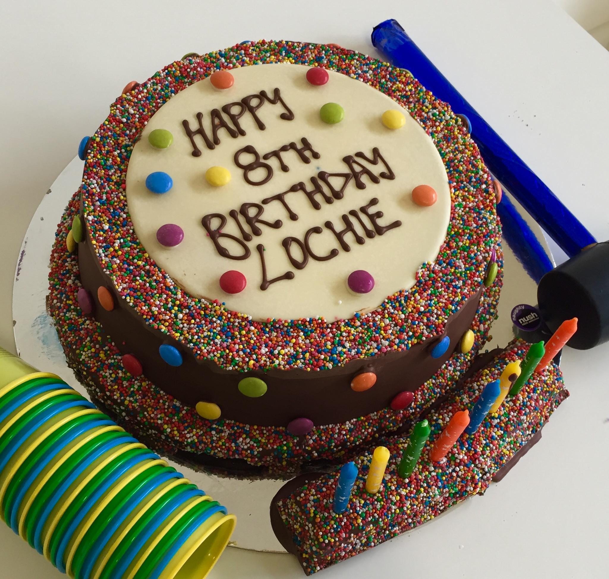 Large Customised Smash Cake Naughty Nush Smash Cakes